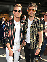 Oliver Proudlock and Darren Kennedy at the LFW (Men's) s/s 2019 What We Wear catwalk show, BFC Showspace, The Store Studios, The Strand, London, England, UK, on Monday 11 June 2018.<br /> CAP/CAN<br /> &copy;CAN/Capital Pictures