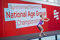 Picture by Allan McKenzie/SWpix.com - 26/11/2017 - Swimming - Swim England Synchronised Swimming National Age Group Championships 2017 - GL1 Leisure Centre, Gloucester, England - Rebecca Saunders.