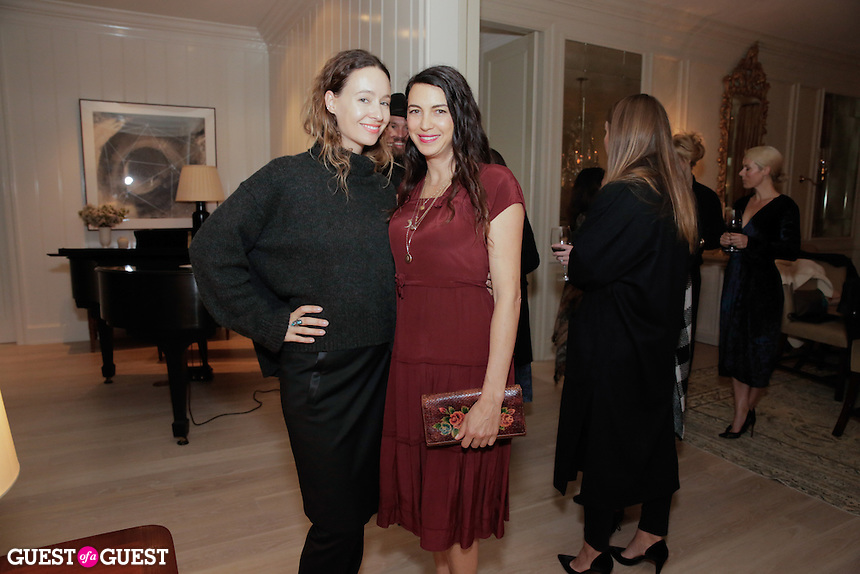 Jenni Kayne and Shiva Rose attend the CAP Beauty + Jenni Kayne Dinner on Nov. 5, 2015 (Photo by Inae Bloom/Guest of a Guest)