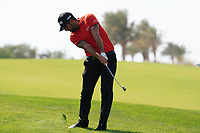 Matthieu Pavon (FRA) on the 9th during Round 4 of the Saudi International at the Royal Greens Golf and Country Club, King Abdullah Economic City, Saudi Arabia. 02/02/2020<br /> Picture: Golffile | Thos Caffrey<br /> <br /> <br /> All photo usage must carry mandatory copyright credit (© Golffile | Thos Caffrey)