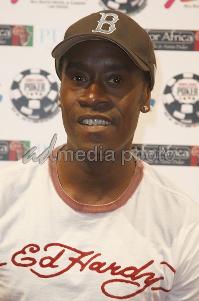 "2 July 2008 - Las Vegas, Nevada - Don Cheadle. Annie Duke and Don Cheadle host the 2nd Annual ""Ante Up For Africa"" Celebrity Poker Tournament during the 2008 World Series of Poker held at the Rio All-Suite Hotel and Casino. Photo Credit: MJT/AdMedia"