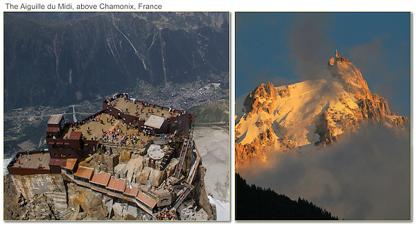 Europeans know how to live and play in the mountains, Chamonix, French Alps.