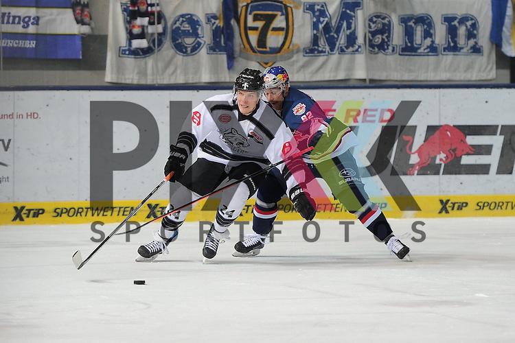 Eishockey, DEL, EHC Red Bull M&uuml;nchen - Thomas Sabo Ice Tigers N&uuml;rnberg. <br /> <br /> Im Bild Marcus WEBER (24) (Thomas Sabo Ice Tigers), Alexander BARTA (92) (EHC Red Bull M&uuml;nchen). <br /> <br /> Foto &copy; P-I-X.org *** Foto ist honorarpflichtig! *** Auf Anfrage in hoeherer Qualitaet/Aufloesung. Belegexemplar erbeten. Veroeffentlichung ausschliesslich fuer journalistisch-publizistische Zwecke. For editorial use only.