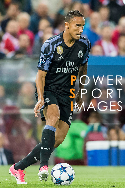 Danilo Luiz Da Silva of Real Madrid in action during their 2016-17 UEFA Champions League Semifinals 2nd leg match between Atletico de Madrid and Real Madrid at the Estadio Vicente Calderon on 10 May 2017 in Madrid, Spain. Photo by Diego Gonzalez Souto / Power Sport Images