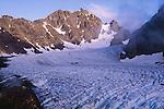 Evening light on Mt. Mathias above Blue Glacier, Olympic National Park, Washington