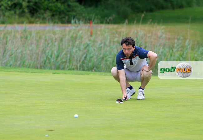 Gerard Dunne (Co. Louth) on the 11th green during Round 3 of the 2016 Connacht Strokeplay Championship at Athlone Golf Club on Sunday 12th June 2016.<br /> Picture:  Golffile | Thos Caffrey