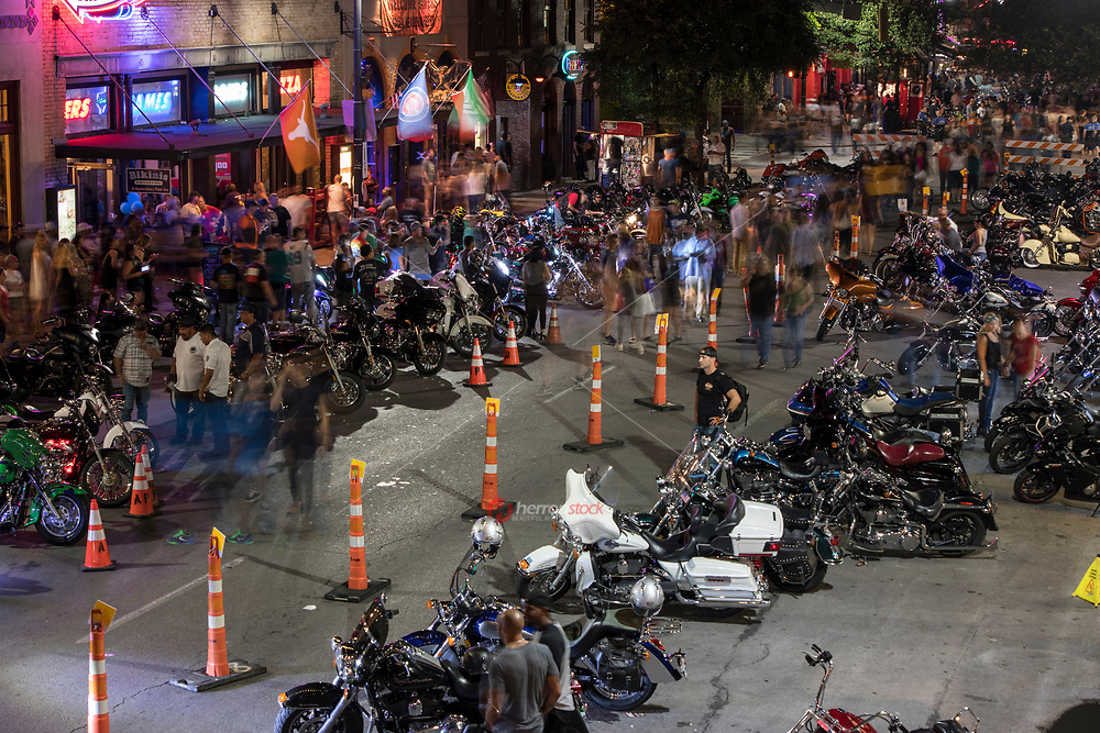 The ROT Biker Rally is Texas' Biggest Biker gathering to Flood Streets of downtown Austin with thundering motorcycles. The event has drawn as many as 35,000 paying customers to the event grounds. City officials have estimated that the Friday night street party downtown on dirty 6th Street draws as many as 200,000 spectators thus making it one of the largest motorcycle rallies of any kind in the country.