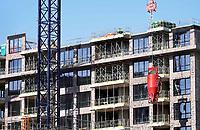 Nederland  Amsterdam -  2018.   Bouwwerkzaamheden op de Zuidas.    Foto Berlinda van Dam / Hollandse Hoogte
