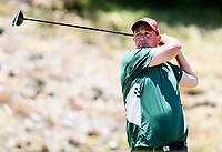 Daniel Perham of Aorangi. Day One of the Toro Interprovincial Men's Championship, Mangawhai Golf Club, Mangawhai,  New Zealand. Tuesday 5 December 2017. Photo: Simon Watts/www.bwmedia.co.nz