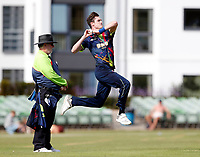 Adam Milne bowls for Kent during the T20 friendly between Kent and the Netherlands at the St Lawrence Ground, Canterbury, on July 3, 2018
