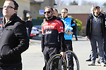 Team helpers wait on the climb of La Houpe for the riders during the 60th edition of the Record Bank E3 Harelbeke 2017, Flanders, Belgium. 24th March 2017.<br /> Picture: Eoin Clarke | Cyclefile<br /> <br /> <br /> All photos usage must carry mandatory copyright credit (&copy; Cyclefile | Eoin Clarke)