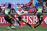 Germany vs Jamaica during their Pool E match as part of the HSBC Hong Kong Rugby Sevens 2017 on 07 April 2017 in Hong Kong Stadium, Hong Kong, China. Photo by Marcio Rodrigo Machado / Power Sport Images