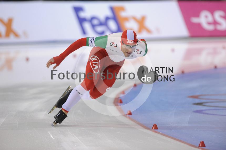 SCHAATSEN: SALT LAKE CITY: Utah Olympic Oval, 15-11-2013, Essent ISU World Cup, 1500m, Konrád Nagy (HUN), ©foto Martin de Jong