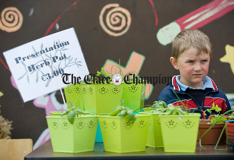 Keith Mc Mahon at work during the annual open air market day at Carrigaholt National school. Photograph by John Kelly.
