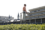 Scott Jordan is the starter at Churchill Downs. Start crews work seasonally and are busy during Triple Crown season which includes the Kentucky Derby at Churchill Downs in Louisville, Kentucky.