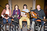 Some of the Members from the 2011 Comhaltas group who toured North America last year, pictured here last Friday night performing at the Barr Na Sraide Comhaltas night in The ring of Kerry were l-r; Róisín Ryan, Maura Walsh, Conor Moriarty & Paul McMahon.