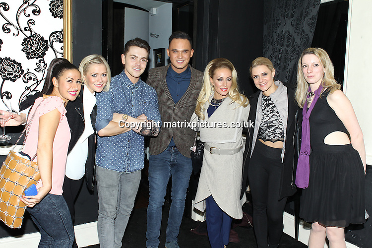 NON EXCLUSIVE PICTURE: TREVOR ADAMS / MATRIXPICTURES.CO.UK<br /> PLEASE CREDIT ALL USES<br /> <br /> WORLD RIGHTS<br /> <br /> The celebrity cast of Dancing On Ice are pictured attending the after party following the opening night of the Dancing On Ice Live Tour, at the Phones 4U Arena in Manchester, England.<br /> <br />  MARCH 28th 2014<br /> <br /> REF: MTX 141583