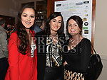 Tracy McCluskey, Lorna Neary and Zoe Dunne at the Naomh Fionnbarra / St Annes Lip Sync in City North hotel. Photo:Colin Bell/pressphotos.ie