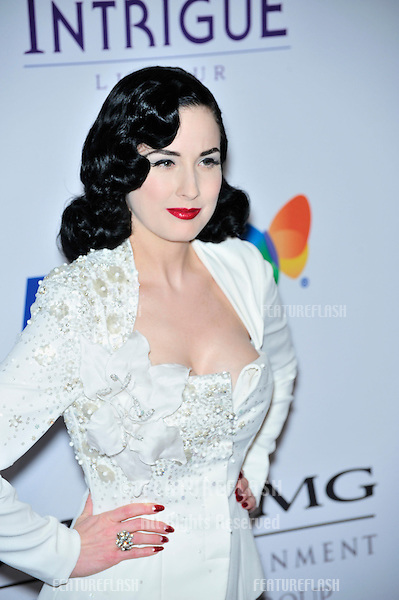 Dita Von Teese at music mogul Clive Davis' annual pre-Grammy party at the Beverly Hilton Hotel..February 9, 2008  Los Angeles, CA.Picture: Paul Smith / Featureflash