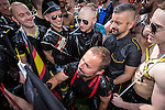 """© Joel Goodman - 07973 332324 . 23/08/2014 .  Manchester , UK . The parade through Manchester City Centre . Manchester Pride """" Big Weekend """" in Manchester """" today ( 23rd August 2014 ) . Photo credit : Joel Goodman"""