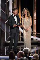 William H. Macy and Felicity Huffman present at the 76th Annual Golden Globe Awards at the Beverly Hotel in Beverly Hills, CA on Sunday, January 6, 2019.<br /> *Editorial Use Only*<br /> CAP/PLF/HFPA<br /> Image supplied by Capital Pictures