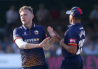 Sam Cook of Essex celebrates taking the wicket of Paul Stirling during Essex Eagles vs Middlesex, Vitality Blast T20 Cricket at The Cloudfm County Ground on 6th July 2018