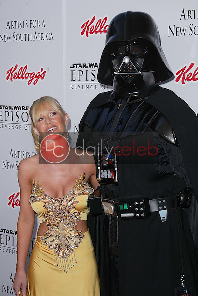 Katie Lohmann and Darth Vader<br />