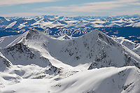 Rocky Mountains, Grey's Peak and Torres Peak with Keystone ski area in background. March 2014. 81149