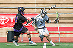 San Diego, CA 05/25/13 - Troy Durie (Carlsbad #14) and Jack Pope (Westview #22) in action during the 2013 Boys Lacrosse San Diego CIF DIvision 1 Championship game.  Westview defeated Carlsbad 8-3.
