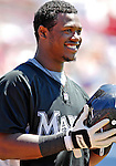 18 March 2007: Florida Marlins infielder Hanley Ramirez waits in the on deck circle to lead off against the Washington Nationals at Space Coast Stadium in Viera, Florida...Mandatory Photo Credit: Ed Wolfstein Photo
