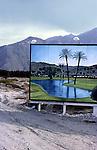 Billboard in desert near Palm Spprings, CA