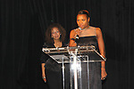 """Tamara Tunie & Deborah Koenigsberger at The Fourteenth Annual Hearts of Gold Gala """"Hooray for Hollywood!"""" - with its mission to foster sustainable change in lifestyle and levels of self-sufficiency for homeless mothers and their children on October 28, 2010 at the Metropolitan Pavillion, New York City, New York. (Photo by Sue Coflin/Max Photos)"""