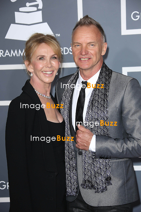 Trudy Styler, Sting   at the 55th Grammy Awards-Arrivals  held at the Los Angeles Convention Center.
