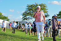 Kevin Kisner (USA) departs 18 following round 2 Four-Ball of the 2017 President's Cup, Liberty National Golf Club, Jersey City, New Jersey, USA. 9/29/2017.<br /> Picture: Golffile | Ken Murray<br /> <br /> All photo usage must carry mandatory copyright credit (&copy; Golffile | Ken Murray)