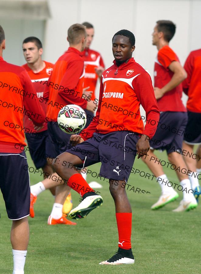 FUDBAL - PRIPREME - CRVENA ZVEZDA - TRENING - Mbodji Mamadu fudbaler Crvene Zvezde na treningu.<br /> Brezice, 18.06.2015.<br />                              foto:N.Skenderija