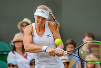 London, England, 9 th. July, 2018, Tennis,  Wimbledon, Womans single fourth round: Kiki Bertens (NED) in her match against Karolina Pliskova (CZE)<br /> Photo: Henk Koster/tennisimages.com