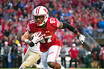 Wisconsin Badgers wide receiver Quintez Cephus (87) during an NCAA College Big Ten Conference football game against the Purdue Boilermakers Saturday, October 14, 2017, in Madison, Wis. The Badgers won 17-9. (Photo by David Stluka)