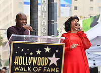 LOS ANGELES, CA. January 28, 2019: Taraji P. Henson &amp; John Singleton at the Hollywood Walk of Fame Star Ceremony honoring Taraji P. Henson.<br /> Pictures: Paul Smith/Featureflash