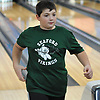 Joe Ledesky of Seaford competes in a Nassau County boys bowling match against Hewlett at Baldwin Lanes on Monday, Dec. 18, 2017.
