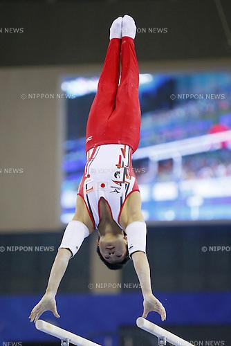 Shogo Nonomura (JPN), OCTOBER 7, 2014 - Artistic Gymnastics : 2014 World Artistic Gymnastics Championships <br /> Men's Team Final at the Guangxi Gymnasium in Nanning, China. (Photo by Yusuke Nakanishi/AFLO SPORT)