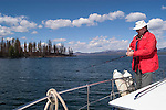 WY: Wyoming, Yellowstone National Park..Lake Yellowstone fishing.Photo #: yellow859..Photo copyright Lee Foster, 510/549-2202, lee@fostertravel.com, www.fostertravel.com..