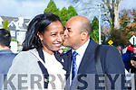 Sealed wit a kiss Aboit Debebe celebrates becoming Irish citizen with Tesfaye Onsho at the Citizenship ceremony in the INEC on Monday