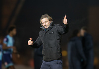 Wycombe Wanderers Manager Gareth Ainsworth gives thumbs up to the supporters after his teams win  during the Sky Bet League 2 match between Wycombe Wanderers and Newport County at Adams Park, High Wycombe, England on 2 January 2017. Photo by Andy Rowland.