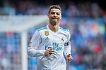 Cristiano Ronaldo of Real Madrid reacts during the La Liga 2017-18 match between Real Madrid and Deportivo Alaves at Santiago Bernabeu Stadium on February 24 2018 in Madrid, Spain. Photo by Diego Souto / Power Sport Images