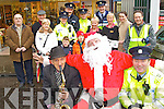Local Gardaí will take time out next week to do their bit for charity this Christmas in aid of the Kerry branch of the Irish Kidney Association. Local Gardaí will perform along with a host of local characters from 12.30am -5pm next Tuesday December 20th. In front are Christy McCarthy Santa Claus aka Jerry Quinlan and Garda Dave Rath.