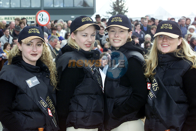Patricia Kavanagh, Blackrock, Claire O'Neill, Shankhill, Julianna Doyle, Dalkey and Caitriona Hurley, Blackrock at the Irish Grand National in Fairyhouse..Picture Paul Mohan Newsfile