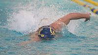 Berkeley, CA - February 2, 2017: Cal Bears Men's Swim team vs USC Men's Swim team at Spieker Aquatic Complex  Final score, Cal Bears 177, USC 109