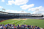 OMAHA, NE - JUNE 26: Louisiana State University takes on the University of Florida during the Division I Men's Baseball Championship held at TD Ameritrade Park on June 26, 2017 in Omaha, Nebraska. The University of Florida defeated Louisiana State University 4-3 in game one of the best of three series. (Photo by Justin Tafoya/NCAA Photos via Getty Images)