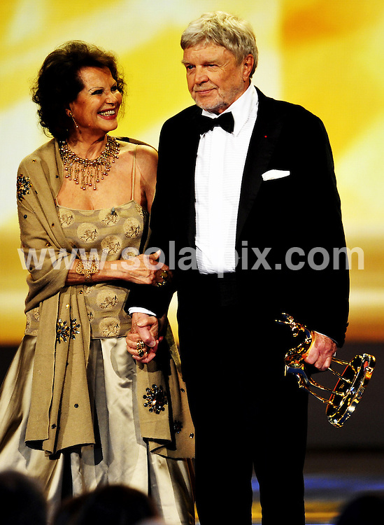 **ALL ROUND PICTURES FROM SOLARPIX.COM**.**SYNDICATION RIGHTS FOR UK AND SPAIN ONLY**.The German actor Hardy Kruger receives the lifetime achievement award at the 60th annual 'Bambi' Award in Offenburg,Germany..This pic:Italian actress Claudia Cardinale..JOB REF:8033-CPR/Torsten Silz   DATE:27_11_08.**MUST CREDIT SOLARPIX.COM OR DOUBLE FEE WILL BE CHARGED* *UNDER NO CIRCUMSTANCES IS THIS IMAGE TO BE REPRODUCED FOR ANY ONLINE EDITION WITHOUT PRIOR PERMISSION*