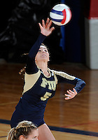 Florida International University women's volleyball player Rachel Fernandez (5) plays against Florida Gulf Coast University.  FIU won the match 3-0 on November 8, 2011 at Miami, Florida. .